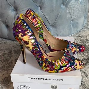 Steve Madden Galactik multi jewel pumps heels 8